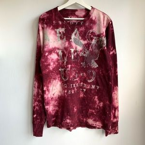 American Eagle bleached graphic long sleeve T